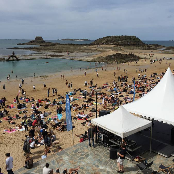 Escenario Playa de Bon Secours - Saint-Malo